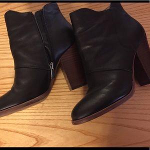 Halogen Stacked Heel Boots